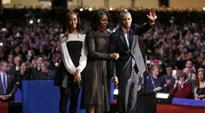 Why was Sasha Obama missing from her father's farewell speech?