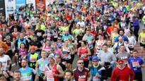 Marathon run after start in space