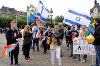 Israeli, Swedish flags at Malmo LGBT march