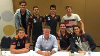 Steve Waugh reveals leadership secrets to young Giants