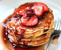 Pancakes With Strawberry Sauce Recipe