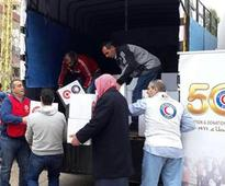 KRC hands out humanitarian aid to Syrian refugees in N. Lebanon