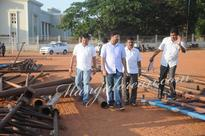 Mangalore: AICC Secretary Ashok Tanwar Inspects Nehru Maidan for Sonia Gandhi's Visit