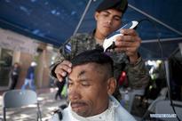 Members of Honduras' Armed Forces take part in medical brigade