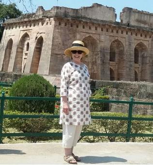 Hillary visits Mandu