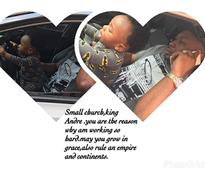 Tonto Dikeh Husband Finally Reveal Face Of Their Son After 11 months [PICS]