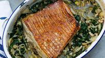 Recipe: Pork belly with fennel, silverbeet and cannellini beans