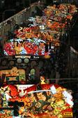 Huge floats pass through Aomori in lively Nebuta festival (2016/8/3)
