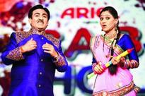 Television's Holi celebration with dance and puppet act