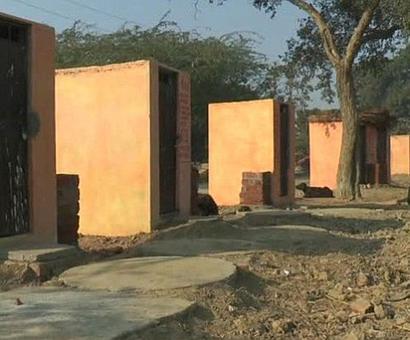 An India where toilets painted saffron make news