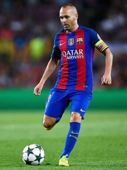 Barcelona skipper Iniesta to miss Super Cup 2nd leg