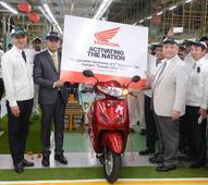 Honda 2Wheelers India inaugurates the 2nd assembly line at its Gujarat Plant