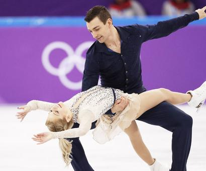 Loved up US figure skaters show how it's done on Valentine's Day