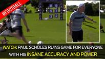 Watch Paul Scholes ruin a target-hitting game for everyone with his ridiculously accurate ball-striking skills