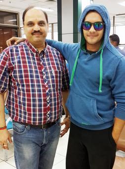 Spotted: Aditya Narayan at Ahmedabad airport