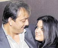 As Sanjay Dutt goes to jail, silence from daughter Trishala