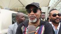 Congolese singer caught 'kicking woman'