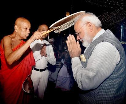 PHOTOS: PM in Sri Lanka, prays at old Buddhist temple