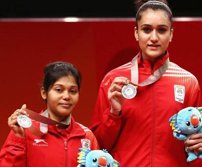 Manika Batra-Mouma Das win maiden women's doubles silver for India