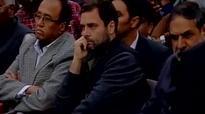 Rahul Gandhi arrives at JNU to meet protestors, greeted with black flags