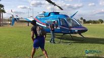 EXCLUSIVE: Alabama's Saban lands helicopter at Sebastian River