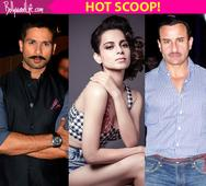 Kangana Ranaut making co-stars Shahid Kapoor and Saif Ali Khan INSECURE on sets of Rangoon !
