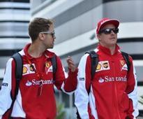 Vettel, Raikkonen test in Abu Dhabi