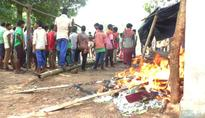Tribals torch CRPF camp opposing road construction
