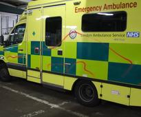 Dismay as London Ambulance is vandalised and sprayed with offensive graffiti in 'mindless act'