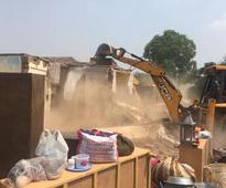 Huda demolishes structures to clear way for road to connect sector 37-C with Patuadi roa