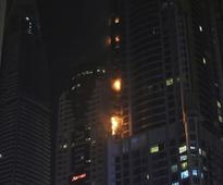 Huge fire engulfs 84-storey residential tower in Dubai