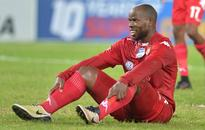 Collins Mbesuma ruled out for up to eight weeks after knee surgery