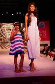Sonalika Sahay and Lakshmi Rana walk the ramp with their daughters in the summer collection -Max Fashion