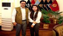 Monika Khangembam meets MoS Kiren Rijiju over racism incident