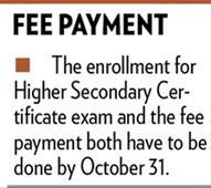 HSC enrollment till October 31