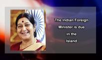Indian Foreign Minister due on Friday