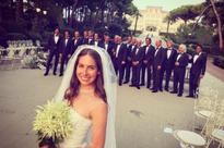Celebrity and royals at wedding of wealthy heir and fashion blogger