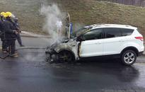 Woman jumps from burning Ford Kuga outside Pretoria prison