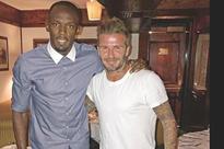 Bolt meets Beckham
