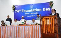 NALCO CMD addressing at 74th Foundation Day Of Utkal University