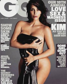 Kim K bares it all for June GQ cover