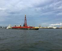 PHOTO: Delaware River Dredging and Rock Blasting