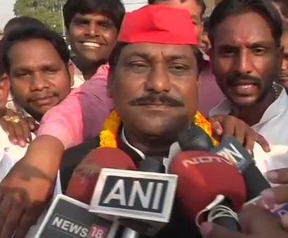 SP's Phulpur winner says credit should go to Mayawati and Akhilesh