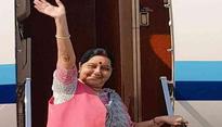 Sushma Swaraj leaves for Sochi to represent India at SCO