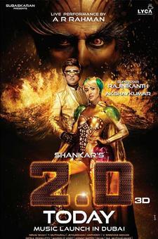 Pix: Rajinikanth, Akshay, Amy get ready for 2.0's music launch