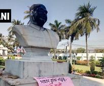 Syama Prasad Mookerjee's bust vandalised by left-wing group in Kolkata