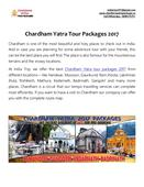 Chardham Yatra Tour Packages 2017