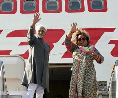 Vice Prez Ansari leaves for Morocco, Tunisia