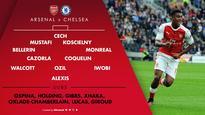 Starting XI's: Arsenal v Chelsea