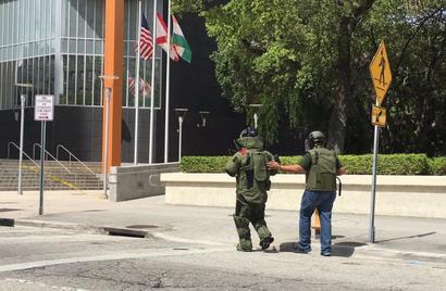 Miami police headquarters evacuated over suspicious package